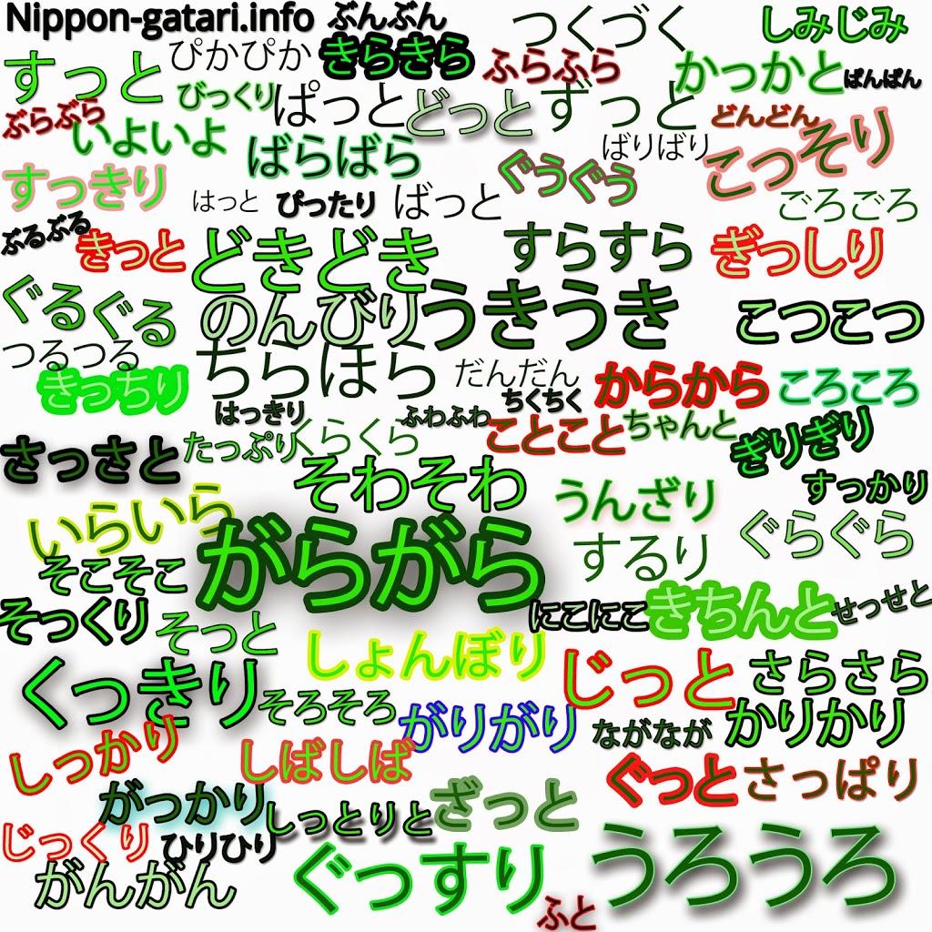 Японская ономатопея. Гионго, гисейго, гитайго - выражения, связанные с качеством действий
