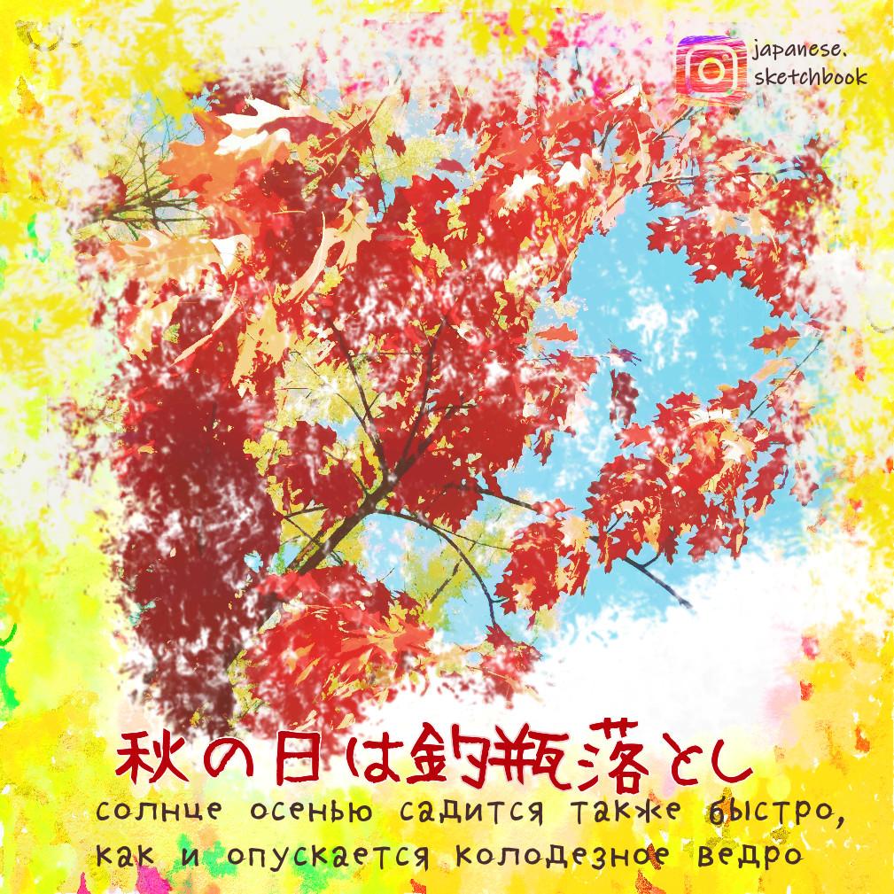 Пословицы про осень на японском